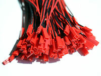 10x Paar 20 Stück 2Pin JST BEC Stecker Buchse 15cm Kabel ESC Lipo Akku 20AWG
