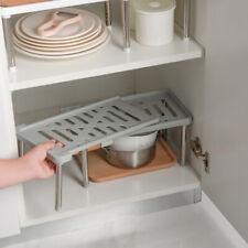Kitchen Cabinet Counter Shelf Organizer Racks Expandable Stackable kitchen TDss