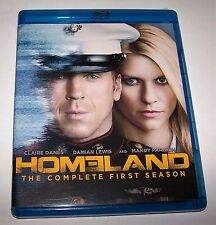 Homeland: Season 1 (Blu-ray Disc, 2012, 3-Disc Set)