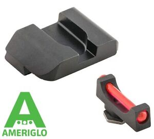 Ameriglo Front Rear Fiber Optic Sight for Glock 17 19 22 23 24 26 27 33 34 35 37