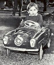 Org 1950 US Press Photo- Classic Toy Peddle Car- Actress Gina Lollobrigida's Son