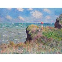 Claude Monet Cliff Walk At Pourville Extra Large Art Poster