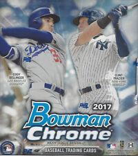 2017 BOWMAN CHROME BASEBALL FACTORY SEAL HOBBY BOX