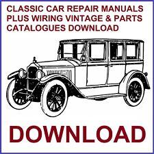 CLASSIC CAR REPAIR MANUALS PLUS WIRING VINTAGE & PARTS CATALOGUES DOWNLOAD