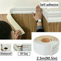3D Self-adhesive Wall Molding Skirting Lines Mural Border Home Sticker Decor