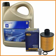 5 Liter 5W30 Motoröl Dexos2 Ölfilter Schraube Opel Insignia A Zafira C 2.0 CDTI