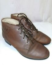 Vintage Ariat Equestrian Paddock Ankle Boots Brown Leather Riding Boots Sz. 7M