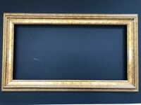 """Hard to Find Size  12"""" x 24""""  - Antique Gold  - Wood Picture Frame."""