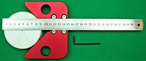 Center Finder, Length Finder, 30 cm Long,  SS Rule, Alu Bl, Square, Half square.