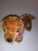 "Aurora Brown Dog NEW 8"" Plush Stuffed Animal"