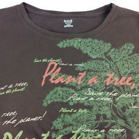 Womens Tee Shirt Size 2X Brown S S Organic Cotton Plant A Tree Save The Planet