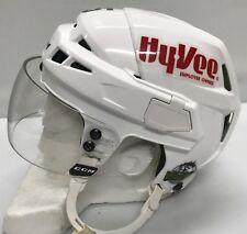CCM V08 Pro Stock Hockey Helmet Small White CCM Visor AHL12307