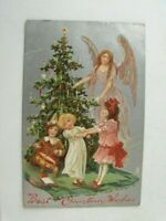 1908 MERRY CHRISTMAS, Raphael Tuck and Sons, Embossed Divided Back Postcard