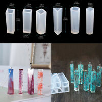 Silicone Clear Mold Assorted Pendant Resin Casting Jewelry Making Mould DIY
