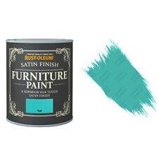 Rust-Oleum Sarcelle Satin Crayeux Craie Meuble Peinture Vintage Shabby Chic