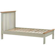 Padstow Grey Painted Single 3ft Bed Frame / Solid Wood Small Painted Bed / Oak