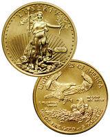RANDOM DATE - 1/10 Troy Oz Fine Gold American Eagle $5 Coin SKU26123