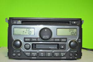 03-05 Honda Pilot CD cassette factory player 1TV0 radio 39100-S9V-A200 WITH CODE