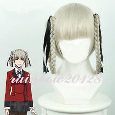 Kakegurui Yumeko Kirari Momobami With 2 Braids Anime Cosplay Wig