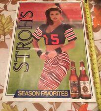 Vintage 1991 Sexy Girl Poster Strohs beers Cincinnati Bengals Season Favorites