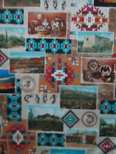 Navajo Adobe Photos Native American Bowls Art Scenery Cotton Fabric BTHY