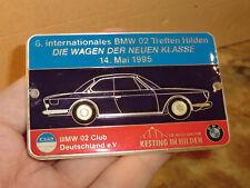 Plakette BMW 02 Club Deutschland TREFFEN Hilden 1995 2000CS BADGE plaque DR71