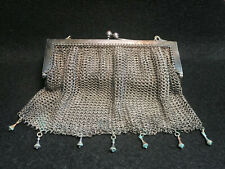 Vtg Silver Tone Mesh Purse Wristlet Chain mail