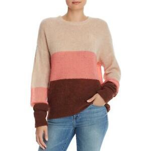 Joie Morgen Women's Wool Blend Colorblock Stripe Long Sleeve Crewneck Sweater