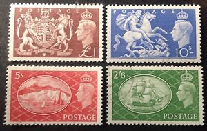 GB 1951 Set Of 4 Stamps To £1.00 CTO