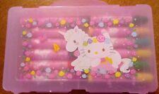 🦄1976/2013 Sanrio Hello Kitty 24 CL Mini Pen Marker Set TAIWAN Collector w/CASE