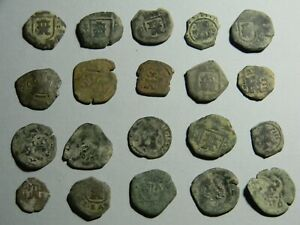 Spain  Lot of 20 Cob Coins various denominations    (01555)