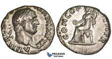 ZM302, Roman Empire, Vitellius (69 AD) AR Denarius (2.83g) Rome, Concordia, Rare