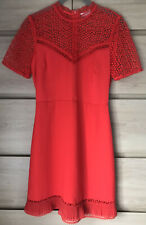 Brand New Ladies  Warehouse Red Dress Size 8 Wedding Occasion Kate Middleton