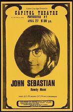 JOHN SEBASTIAN (Lovin' Spoonful) HOWDY MOON Original 1974  Concert Poster