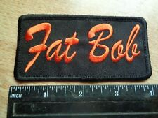 FAT BOB Harley Davidson Motorcycle Patch Factory HD Vest Jacket Badge Pin Tie