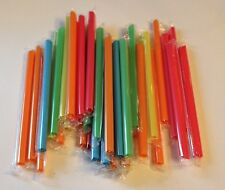 50 Pack Speciality Drinking Straws Extra Extra Large Jumbo Bubba Assorted Colors