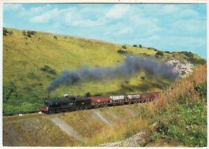 BRITISH RAILWAYS STANDARD TANK #75014 - At Lochailort in 1995 - postcard