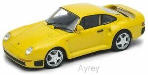Welly NEX Porsche 959 Yellow Model Diecast Car NEW Boxed 1:24 Scale