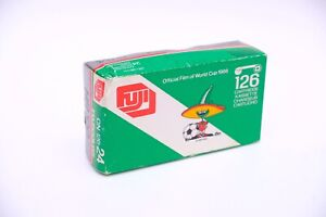 Expired 126 Film Cartridge Fuji Super HR 100 ISO. '86 Mexico World Cup Sponsor!