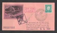 1967 GERMANY Cuxhaven rocket mail ZR 132 card - Golightly stamp - 84C2