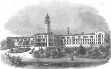 LONDON. Central London District Schools, Hanwell, antique print, 1856