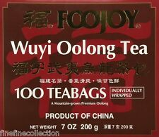 FOOJOY WUYI OOLONG TEA( individually wrapped ) 100 Tea Bags,NET WEIGHT 7 OZ