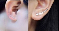 ONE PAIR OF SILVER GOLD PLATED EAR CLIMBER STYLE EARRINGS