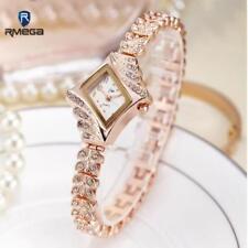 Superbe Montre Bijou Femme Luxe Métal et Simili Diamant Quartz promo