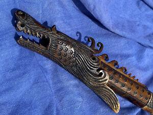 Antique Hand Carved Dragon Blow Gun