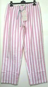 Peter Alexander Pink/White Striped Flannel PJ Pants Sz  L & XL NWT