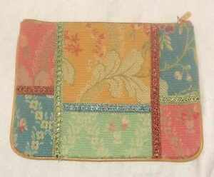 VINTAGE MARCO AVANE CLUTCH BAG PATCHWORK TAPESTRY COULD BE USED AS I PAD CASE.