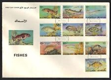 BAHRAIN 1985 FISH TOPICAL COMPLETE SET ON FDC SG 327-36