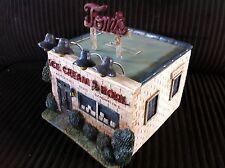 Tom's Ice Cream Building Zanesville Ohio O scale Model Railroad Train Scenery