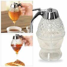 Honey Dispenser Honey Jar Container Bee Drip Dispenser Stand Holder N6S3